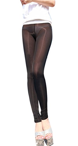 LinvMe Women's Sexy See Through Sheer Tight Pants...