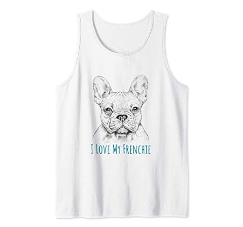 I love My Frenchie graphic - French Bulldog Tank Top