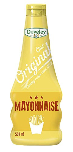 DEVELEY Mayonnaise - 500 ml Squeeze-Flasche Mayonnaise - Our Original – Original amerikanische Rezeptur von 1972 – 100% natürliche Zutaten – Mayo