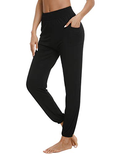 Aibrou Pantalone Tuta Donna Sportiva,Pantaloni da Yoga Donna Ginnastica Harem per Abbigliamento Quotidiano Festa Danza,Stile Sciolto Pantaloni Jogger