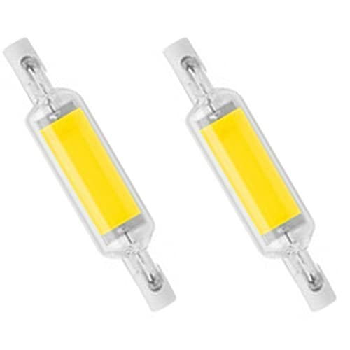 FILTER Paquete de 2 Bombillas LED R7S, Bombillas LED COB de 800 LM, rotación de 360 Grados para reemplazar Luces halógenas, 6000 K Blanco frío