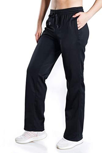 Yogipace, Petite/Regular/Tall, Women's Water Resistant Thermal Fleece Pants Winter Lounge Running Sweatpants with Pockets,33',XL