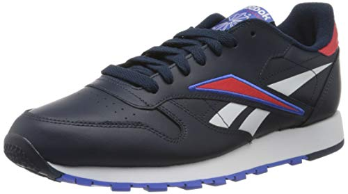 Reebok Herren Cl Leather Mu Gymnastics Shoe, Collegiate Navy/Radiant Red/White, 44 EU