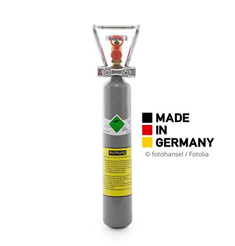 500g Kohlensäure Flasche für Aquarium / 0,5 kg CO2 Flasche/Neue Gasflasche, mit Griff und gefüllt mit Kohlensäure(CO2) nach E290 / direkt vom Abfüller / 10 Jahre TÜV/made in Germany