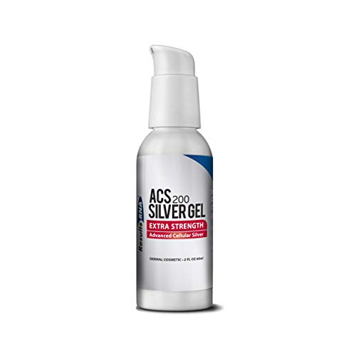 Results RNA ACS 200 Colloidal Silver Gel Extra Strength | Advanced Cellular Silver Topical Gel for Sunburn, Wounds, Rashes, Skin Irritations (2 Ounce)
