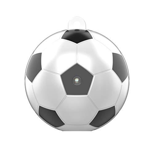 Yue668 - Mini cámara de fútbol con WiFi, cámara de seguridad familiar con visión nocturna infrarroja