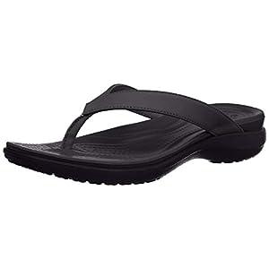 Crocs Women's Capri V Flip Flop, Casual & Simple Sandals for Women, Black/Graphite, 9 M US