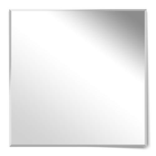 Homestyle Rahmenloser Facettenspiegel Wandspiegel Facettenschliff Rahmenlos Made in Germany (80 x 80 cm)