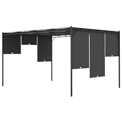Cenador Cikonielf para jardín, resistente a la intemperie, con cortina extra para protección contra el sol, 4 x 3 x 2,25 m