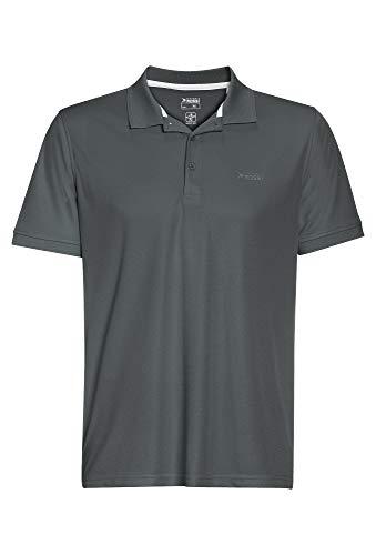 Basic Polo Pique Shirt Outdoor dk grau,M