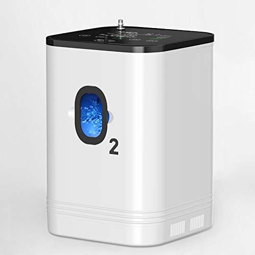 XYZLEO Macchina per Ossigeno Intelligente 1-7L Regolabile Ossigeno + Spray Concentrazione del 93% Concentratore di Ossigeno Grande Schermo LED 40 Db Muto Telecomando Purificatore di Ossigeno
