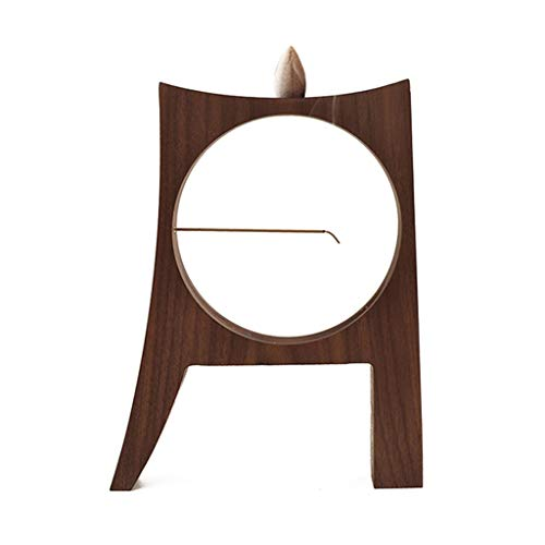 Quemador de Incienso Nogal negro Sostenedor de madera de Reflujo quemador de incienso incensario con incienso y el incienso for Línea equipamiento casero de los ornamentos del sitio Aroma Difusor Ofic