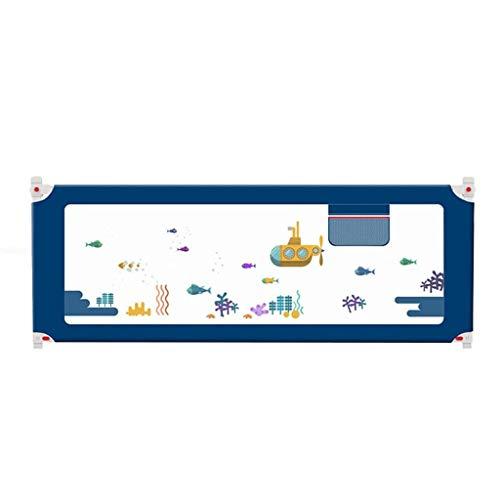 GUO-Bettgitter Breathable Anti-Kollisions-Stoßfänger Mit Erhöhter Trennwand Doppelverriegelung 5-Stufiger Höhenverstellung Geeignet Für Kinder Sicheren Schlaf,180CM