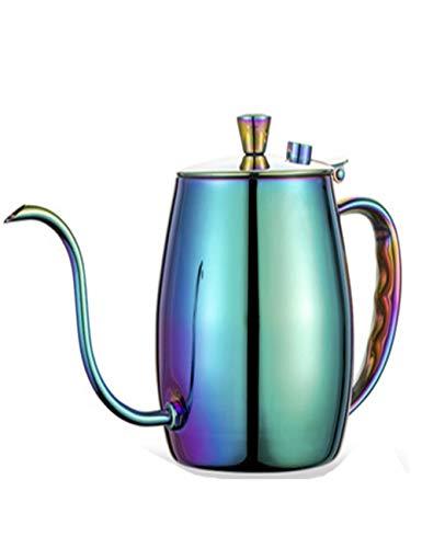 Roestvrij staal Zwanenhals Koffie pot/Hand Drop Thee, Met Thermometer Jack/Vacuüm Spiegel Plating/Mat Tekening Proces, 700ml, Thuis Fijne Mond pot, Multi kleuren