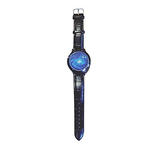 UINGKID Collection Unisex-Armbanduhr Analoge Quarz-runde Handgelenk-Geschäfts-Uhr der Paar-Mode-Leder-Band