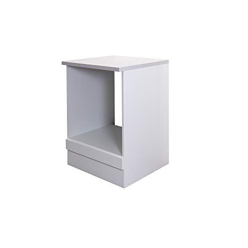 Flex-Well Herdumbauschrank UNNA - Ofenschrank für Backofen - Breite 60 cm - Weiß