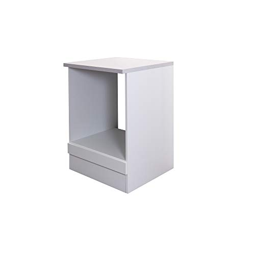Flex-Well Herdumbauschrank UNNA | Ofenschrank für Backofen | Breite 60 cm | Weiß