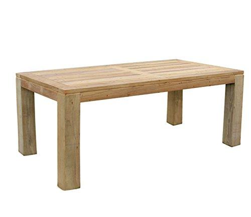 Mojawo Luxus Massivholz XXL Gartentisch aus Teakholz Esstisch Teaktisch Indoor und Outdoor 220x100x75cm