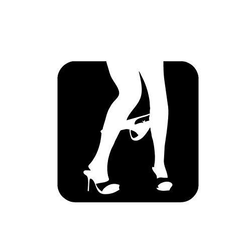 Sexy ondergoed off gepersonaliseerde auto stickers csfssd (Color : Black)