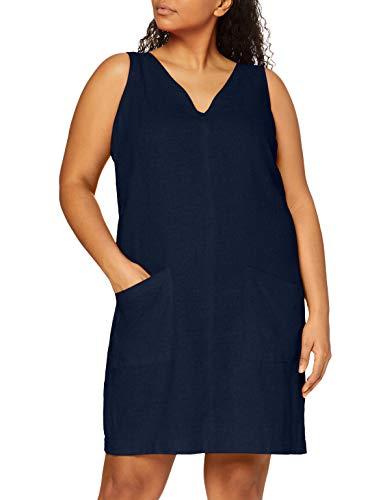 find. Vestito Mini A-Line di Lino Donna, Blu (navy), 40, Label: XS