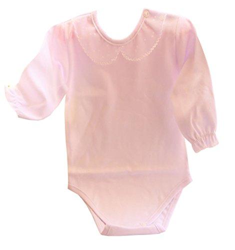 Bejmert - A&O Baby Body mit festlichem Kragen Weiß festlich Taufe (74)