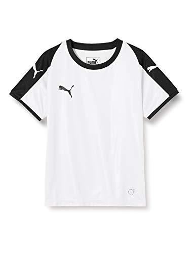 PUMA Kinder Liga Jersey Jr T-shirt, weiß (Puma White/Puma Black), 152