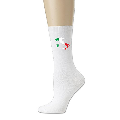 Italiano verde blanco rojo bandera mapa tripulación calcetines de fresno