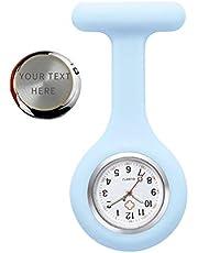 Spilla orologio infermiera, orologio da infermiera personalizzato inciso in silicone con orologio da tasca pin/clip, orologio da taschino con spilla medica infermiera medico paramedico
