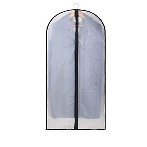 Anaric-Tih betrouwbare Garment Bag Clear PEVA Moth Proof stofdichte zwarte kant ademende volledige rits voor pak Dance kleding Closet Pack