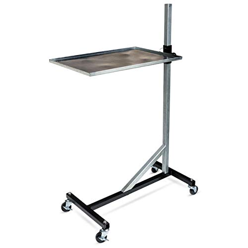 Eastwood Rolling Shop Tray Tool Cart Durable Steel Construction 100Lb Capacity Adjustable Height and Angle for Garage Shop Home