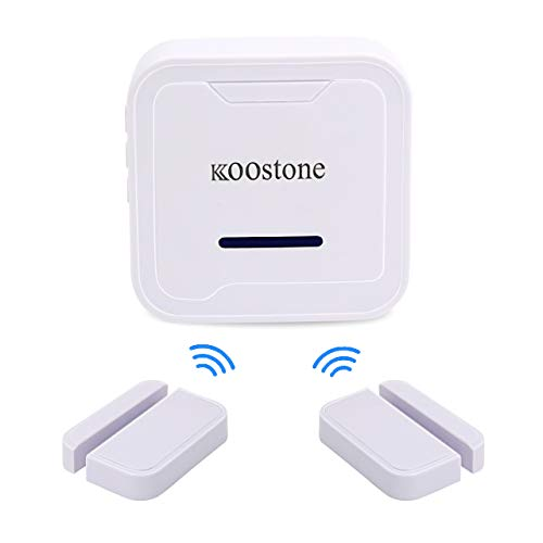 Koostone Wireless Magnetic Door Entry Sensor Alarm Chime, Door Open Alert...