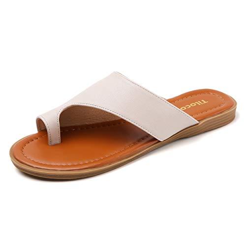 Tilocow Bunion Sandals For Women Cream White Comfort...