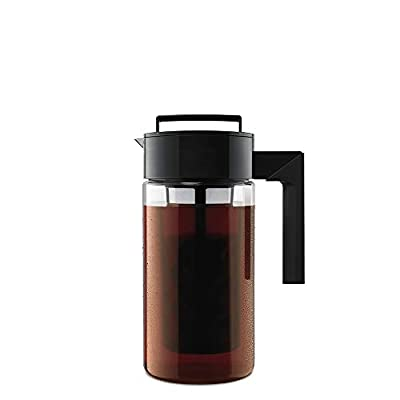 Takeya Patented Deluxe Cold Brew Iced Coffee Maker with Airtight Lid & Silicone Handle, 1 Quart
