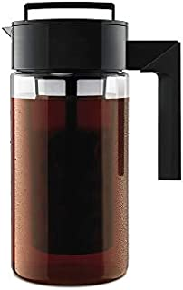 Takeya Patented Deluxe Cold Brew Coffee Maker, One Quart, Black