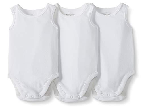 Moon and Back de Hanna Andersson - Pack de 3 bodis sin mangas de algodón orgánico para bebé