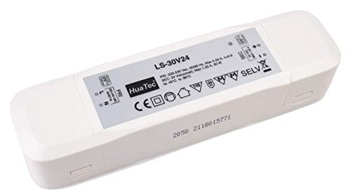 HuaTec Eaglerise Transformador LED 12V 24V 6W 9W 30W 60W 120W Tensión Constante Sin Parpadeo Flickerfree para Tira LED Alimentador Fuente de Alimentación LED (24V 30W)