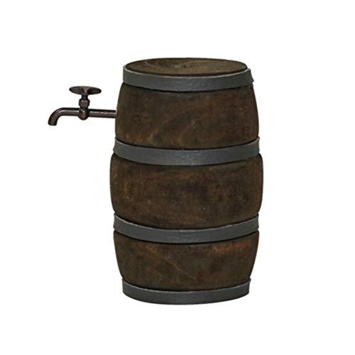 HEALLILY Mini Barril de Vino Tinto de Madera Miniatura Decoración Barril de Cerveza con Grifo