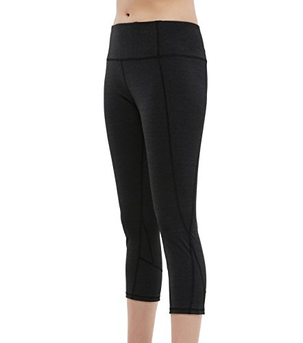 Dimore Bentibo Women's Capri Athletic Stretch Tights Cropped Yoga Leggings Running Workout Pants S