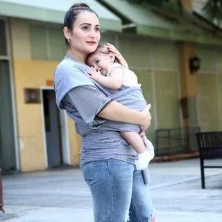 Tragetuch, Tragetuch mit Freisprechfunktion, leicht, atmungsaktiv, weich, perfekt für Neugeborene (Grey)