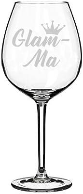 Wine Glass Goblet Glam-Ma Mom Mother Grandmother Grandma (20 oz Jumbo)
