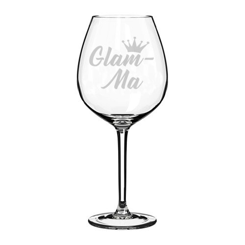 Wine Glass Goblet Glam-Ma Mom Mother Grandmother Grandma (20 oz Jumbo)