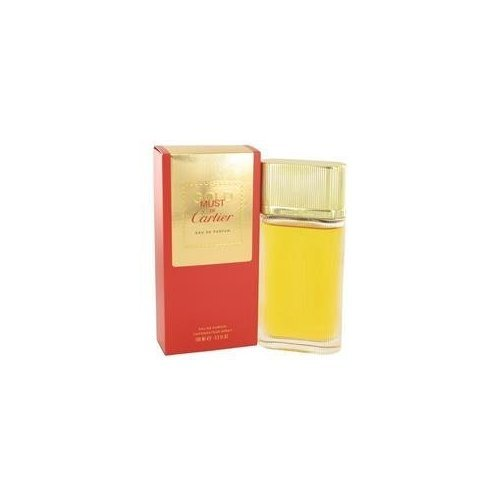 Must De Cartier Gold by Cartier Eau De Parfum Spray 3.3 oz for Women by Cartier