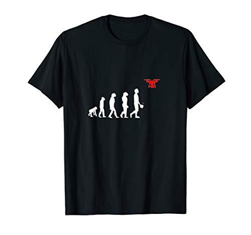 Evolution of Man Drone Lustiges Drohnen Geschenk T-Shirt