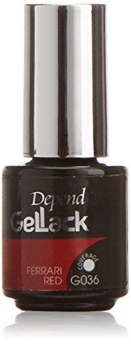 Depend GelLack - Esmalte permanente, tono Ferrari Red