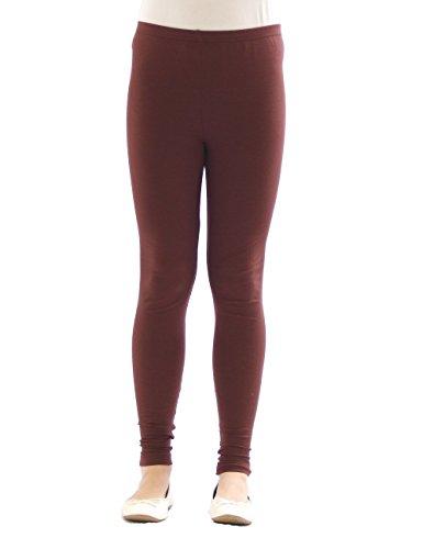 YESET Kinder Mädchen Leggings lang Blickdicht aus Baumwolle Hose Jungen Braun 128