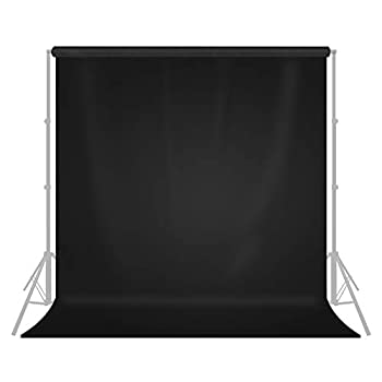 LimoStudio 9  x 13  / 108  x 156  Photo Studio Pure Black Fabricated Backdrop Background Screen for Photo Video Photography Studio Video and Television AGG1854
