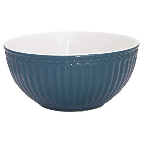 GreenGate - Schale, Dessertschale, Müslischale - Alice - Porzellan - Ocean Blue - 450 ml