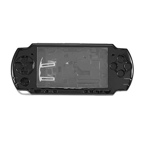 Diyeeni Ersatz Gehäuse für Sony PSP 2000, Solide Schützende Gmae Case Button Cover, Anti-Rutsch Funktion Haltbare ABS Material Full Housing Reparatur Mod Case Schwarz/Weiß(Schwarz)