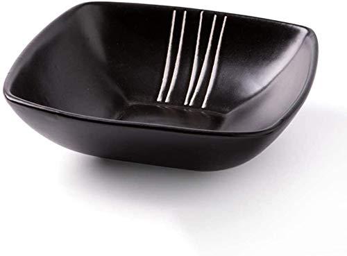 XUEXIU New Wave Soup Plate Style Japonais Art De La Table Saladier Creative Céramique Accueil Quatre Coins Froid Bol Plat Perfect for Catering and Home (Color : C)