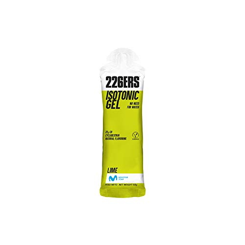 226ERS Isotonic Gel, Gel Isotonico a Base di Carboidrati e Ciclodestrina, Lime - 24 Unità